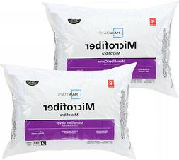 100% Microfiber Polyester Pillow Set Of 2 In Multiple Sizes