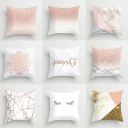 European Geometric Cushion Cover Home Sofa Bed Waist Throw D