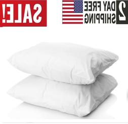 2 Pack Down Bed Pillows,Cotton White Standard