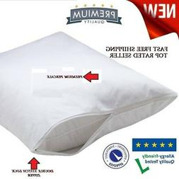 4 Pack King Size Zippered Pillow Protector Stain Resistant C
