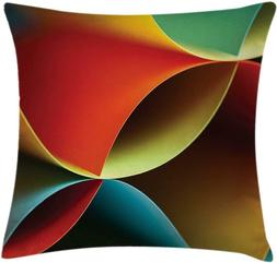 Ambesonne Abstract Throw Pillow Cushion Cover, Graphic Curve