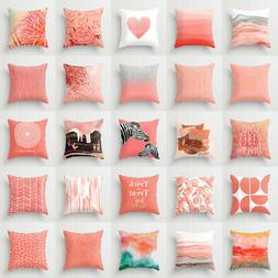 Artificial Coral cushion cover throw pillows case covers sof