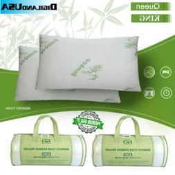 Bamboo Shredded Memory Foam Pillow with Hypoallergenic Cover