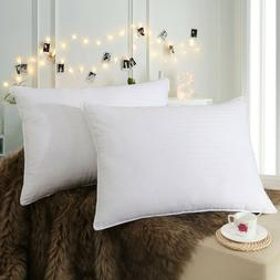 Bed Pillows for sleep 2-Pack Queen Soft 600 TC 100% Cotton S