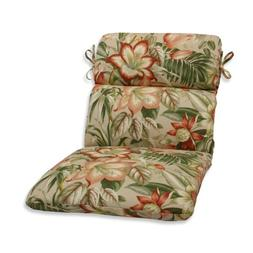 Outdoor Botanical Glow Tiger Stripe Rounded Corners Chair Cu