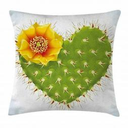 Cactus Decor Throw Pillow Cushion Cover, Thorny Cactus In Th