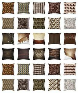 Chocolate Throw Pillow Cases Cushion Covers by Ambesonne Hom