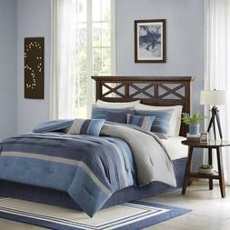 Madison Park Collins Cal King Size Bed Comforter Set Bed In