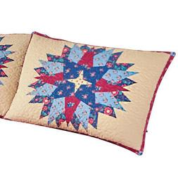 Collections Etc Colorful Country Starburst Patchwork Pillow