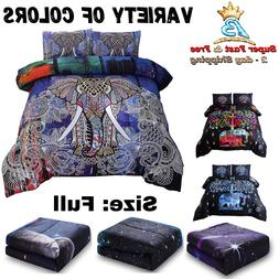 Comforter Set Full Size W/ 2 Matching Pillows Hypoallergenic