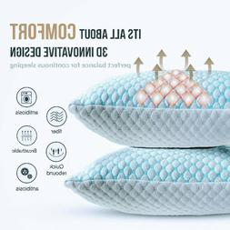🥇#1 Cooling Memory Foam Pillow Ventilated Soft Bed Pillow
