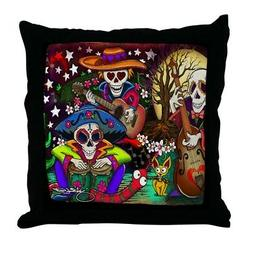 CafePress Day Of The Dead Music Art By Julie Oa Throw Pillow