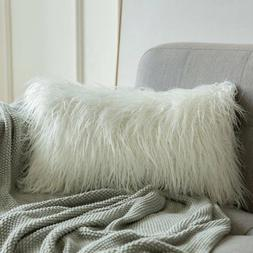 MIULEE Decorative New Luxury Series Style White Faux Fur Thr