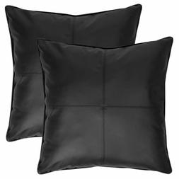 Sweet Home Collection Decorative Pillows 2 Pack Faux Leather