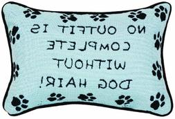 Manual 12.5 x 8.5-Inch Decorative Throw Pillow, Without Dog