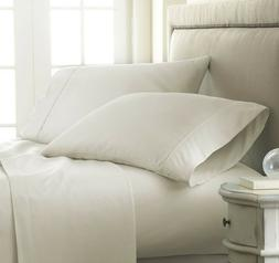 Elegance Comfort Checkered Wrinkle Free / 4 - Piece  Bed She