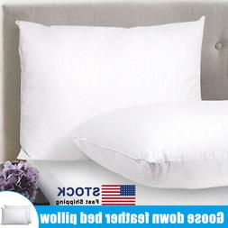 Feather & Down Blend Bed Pillows Cotton Cover 2 Pack Standar