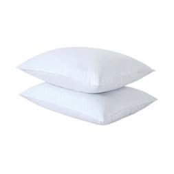 Feather Gray Goose Down Bed Pillow Set of 2 Pillows Bedding