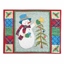 Collections Etc Festive Holiday Icons Patchwork Squares Pill