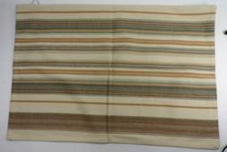 "Pottery Barn Franco Striped Pillow Cover 20x 30"" Natural Mul"