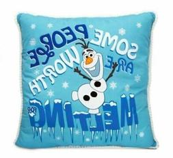 Disney Frozen Olaf Pillow Some People Are Worth Melting For