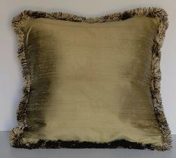gold and black silk complete decorative throw pillows with f