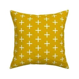 Gold Plus Elizabeth Throw Pillow Cover w Optional Insert by
