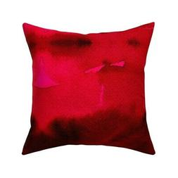 Grande Passion Red Abstract Throw Pillow Cover w Optional In