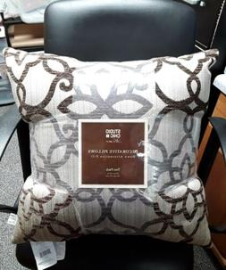 """Studio Chic Home Decorative Pillows Two Pack Brown 20"""" x 20"""""""