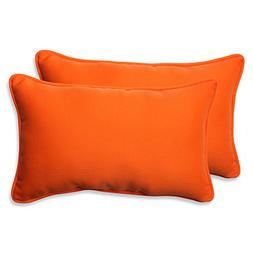 Pillow Perfect Indoor/Outdoor Sundeck Corded Rectangular Thr
