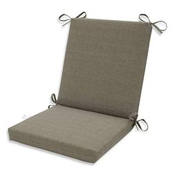 Pillow Perfect Indoor/Outdoor Taupe Textured Solid Square Ch
