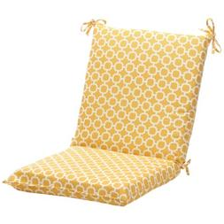 Pillow Perfect Indoor/Outdoor Yellow/White Geometric Square