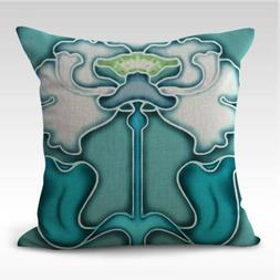 interior decoration in home Art Nouveau floral cushion cover