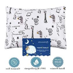 Kids Pillows with Pillowcase,Soft Organic Cotton Toddler Chi