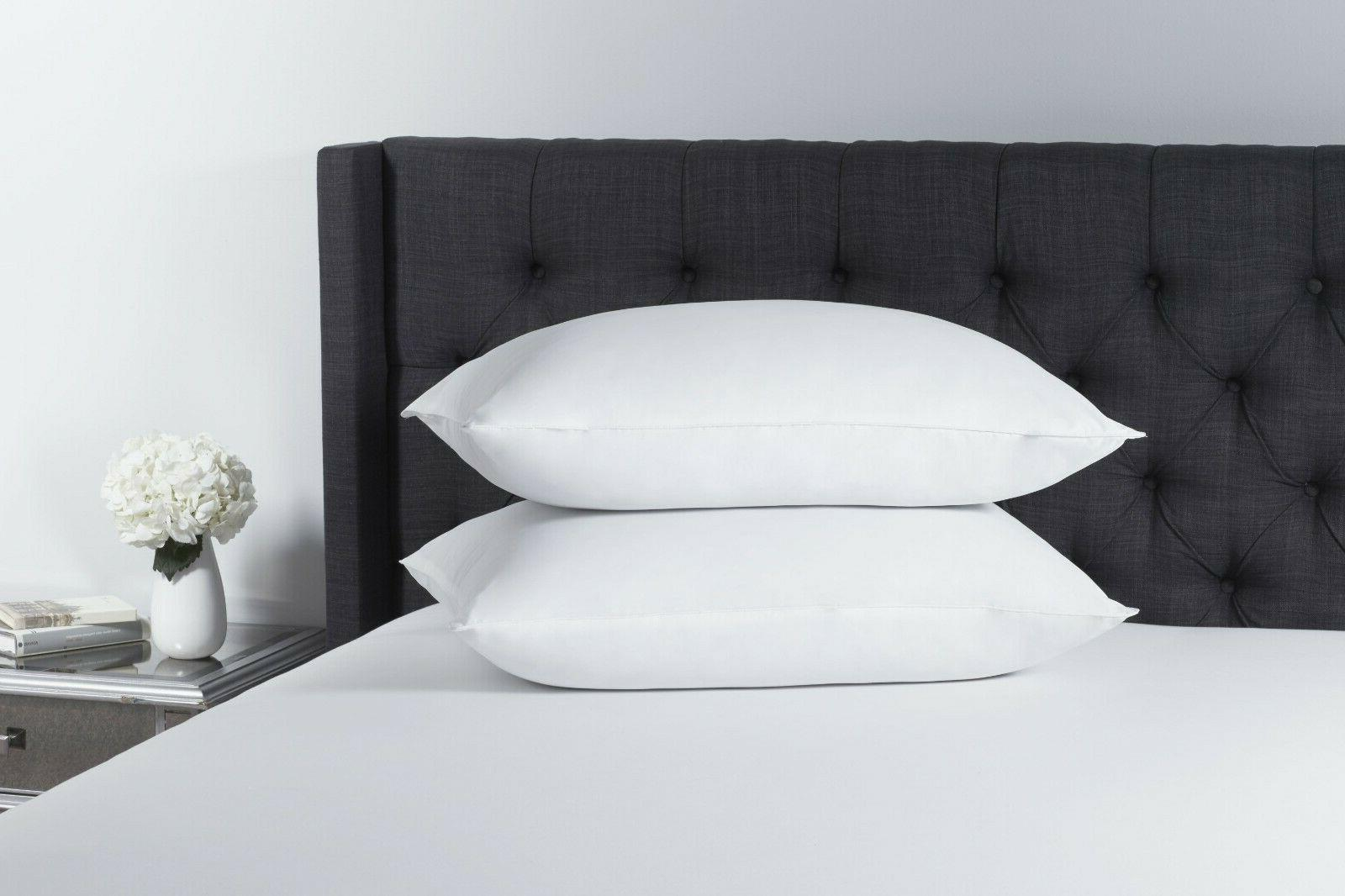 100% Microfiber Hypoallergenic Polyester Pillow Set of 2 Que