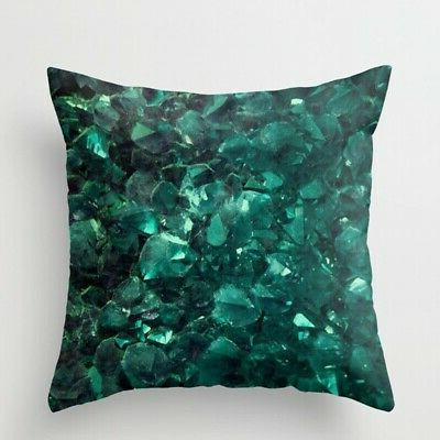 "18"" Marble Polyester Pillow Case Cover Sofa Throw Waist Cushion Cover Decor"