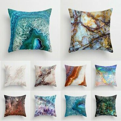 18 marble polyester pillow case cover sofa