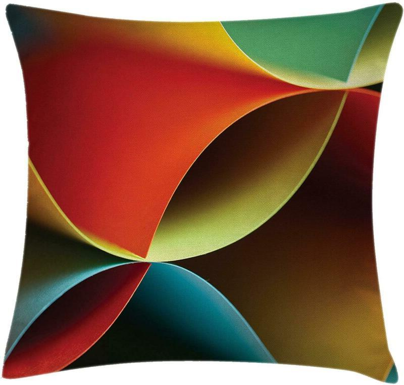 abstract throw pillow cushion cover graphic curved