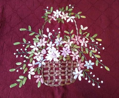 Collections Floral Basket Pillow 16X16 NWOT