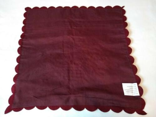 Collections Burgundy Ribbon 16X16 NWOT
