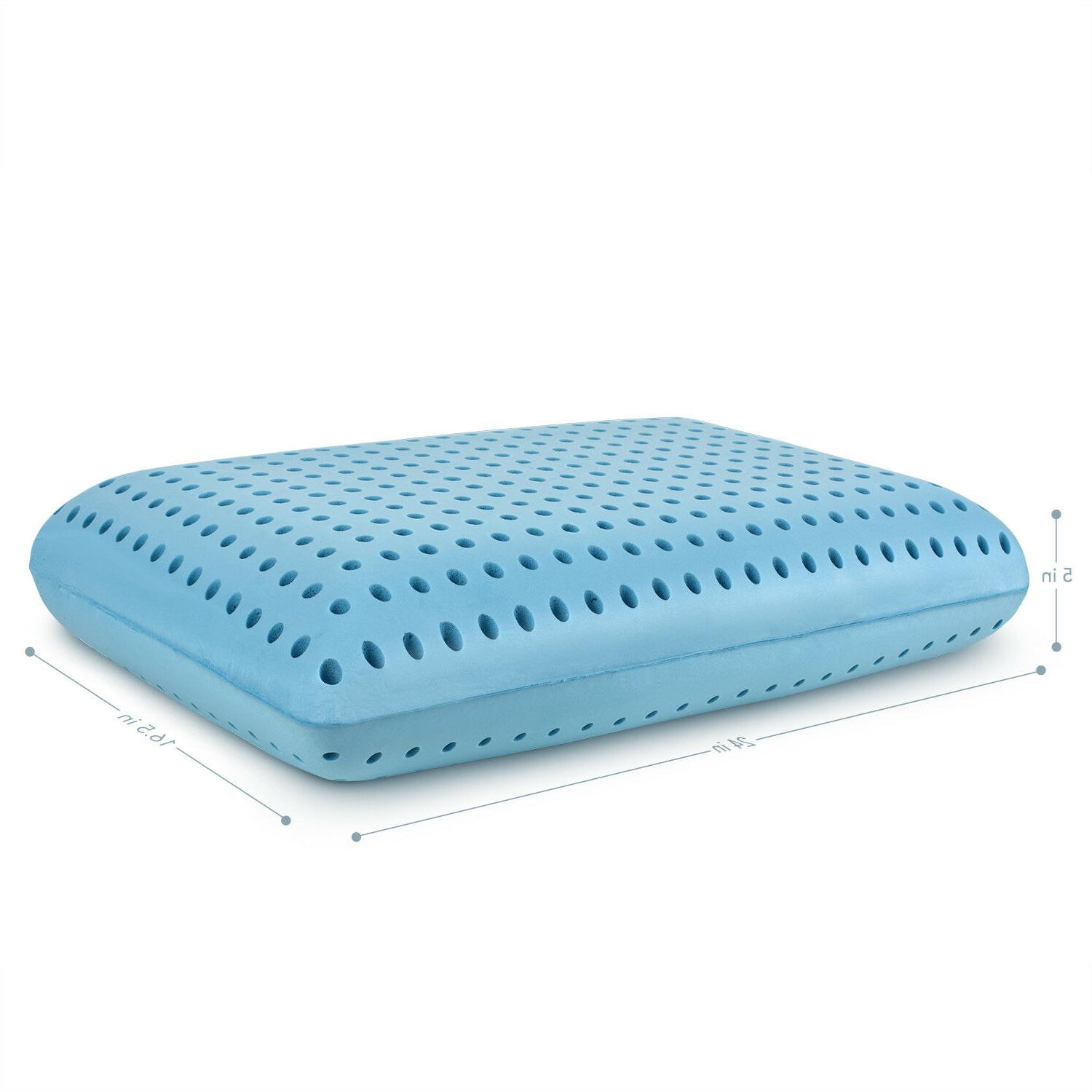 Cooling Memory - Ventilated Bed Pillow Infused Cooling Gel