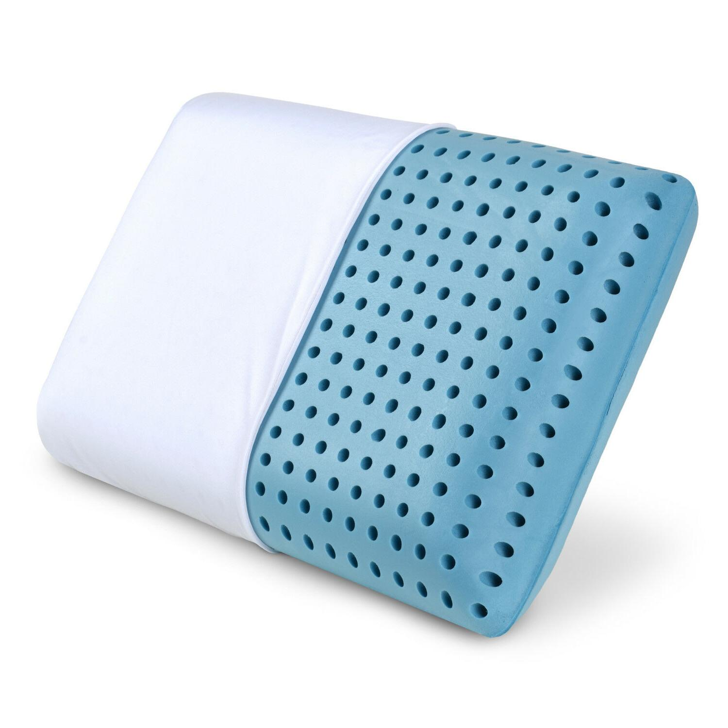 cooling memory foam pillow ventilated bed pillow