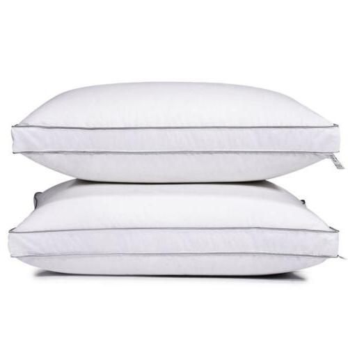 feather goose down bed pillow set of