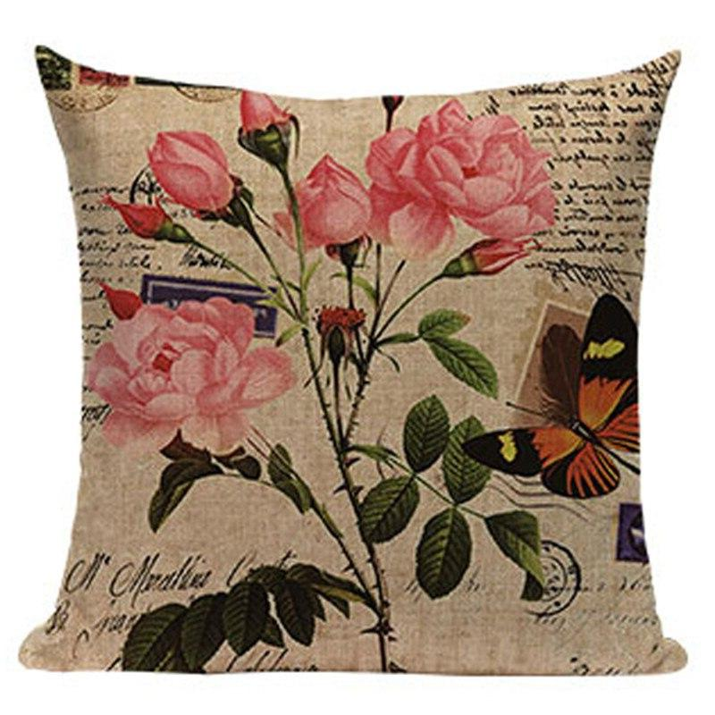 Flower Rural Covers <font><b>Chic</b></font> Style <font><b>Home</b></font> Decorative Retro Office