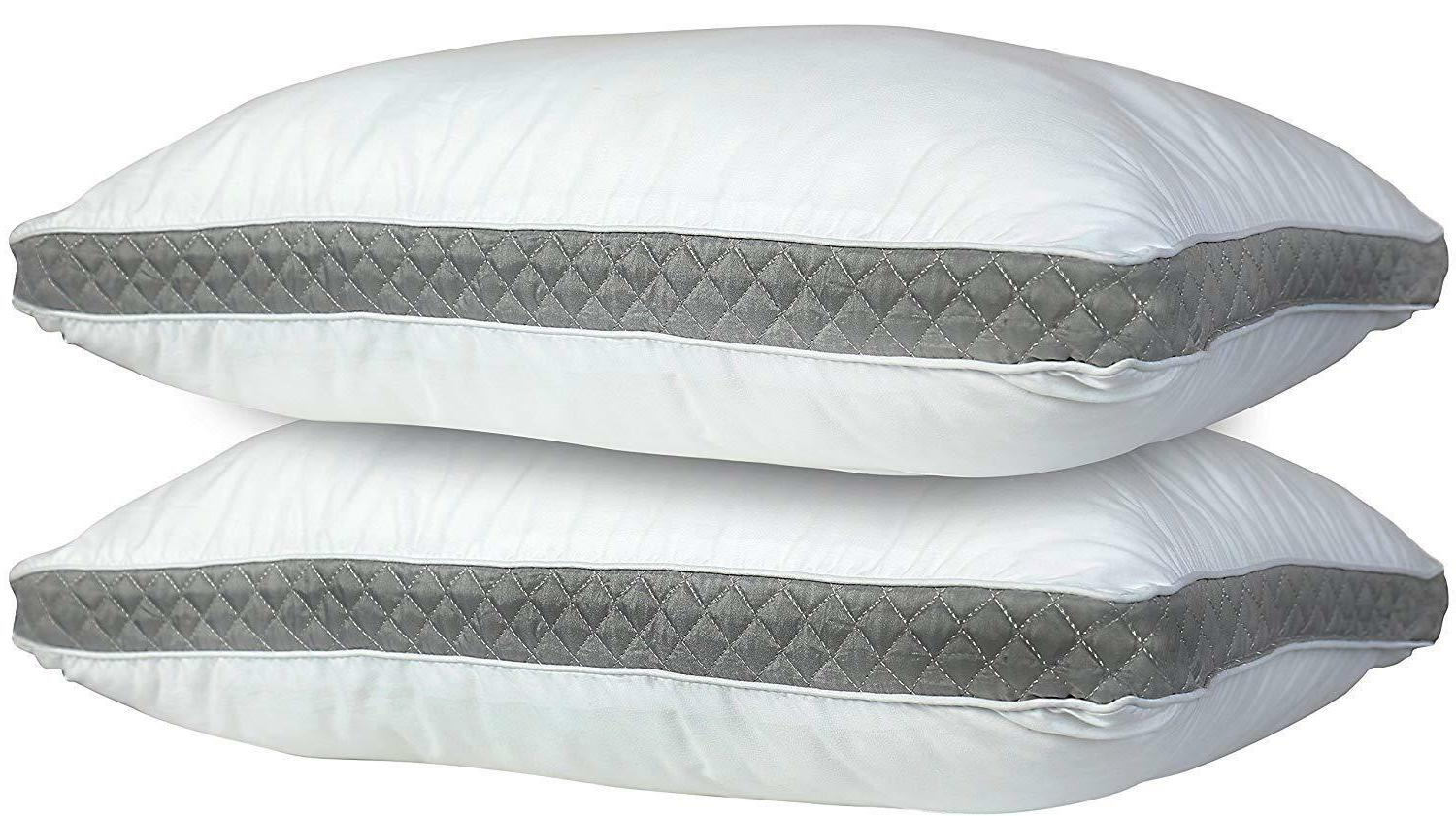 2 Pack Pillows Luxury Ultra Soft Gusseted Bed Pillows for Si