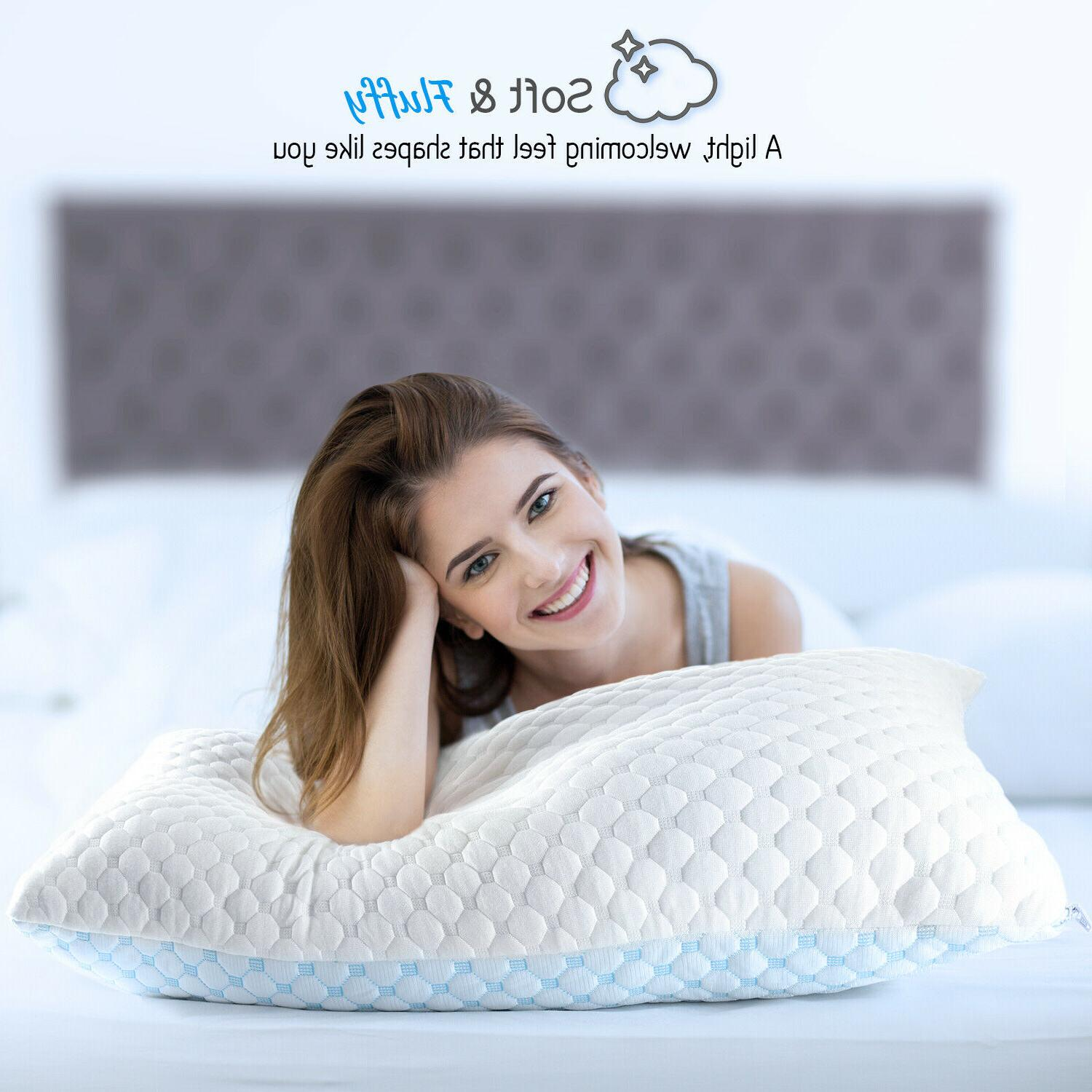 Memory Foam Pillow Heat Ice and Gel Infused