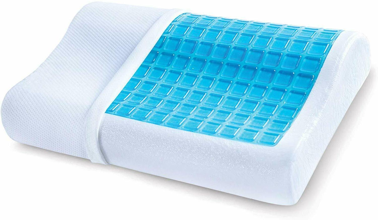 Contour Memory Pillow with Cooling Gel