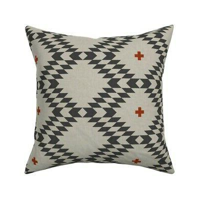 native natural plus throw pillow cover w