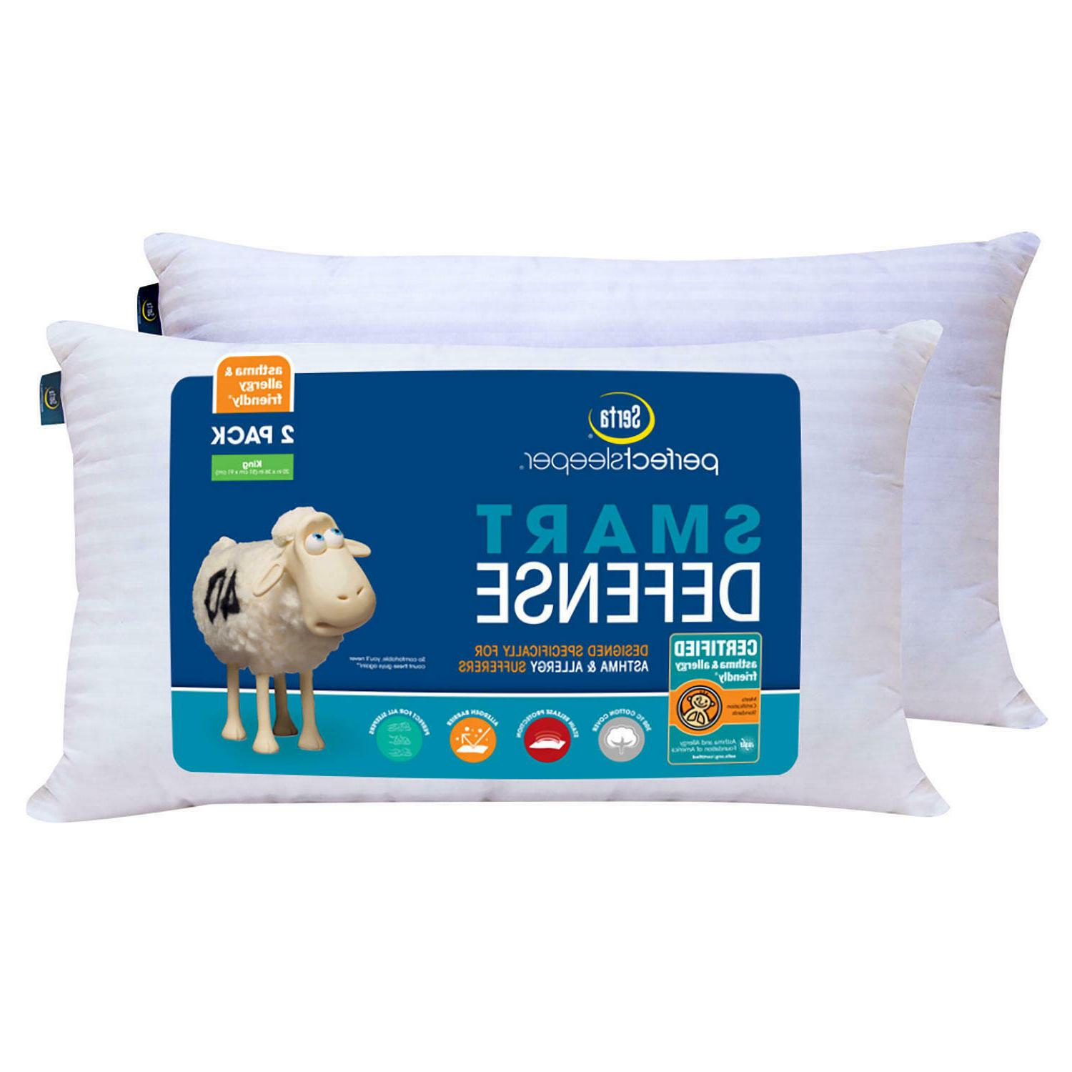 perfect sleeper bed pillow 2 pack king