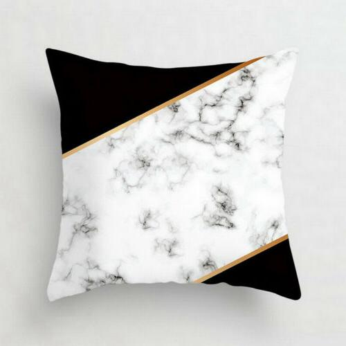 Pink marble Polyester pillow waist Decor